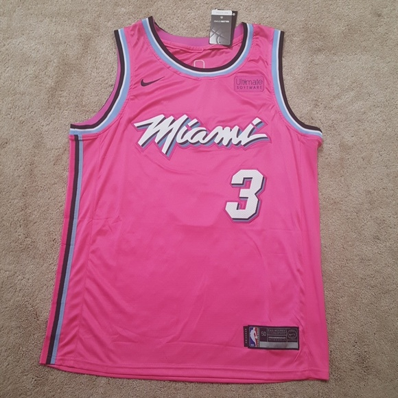 best sneakers 0c5c1 188bb Dwayne Wade Heat Vice City Stitched Jersey New NWT